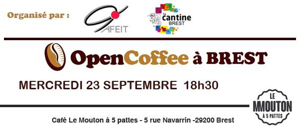Open Coffee 23 septembre au Mouton à 5 Pattes