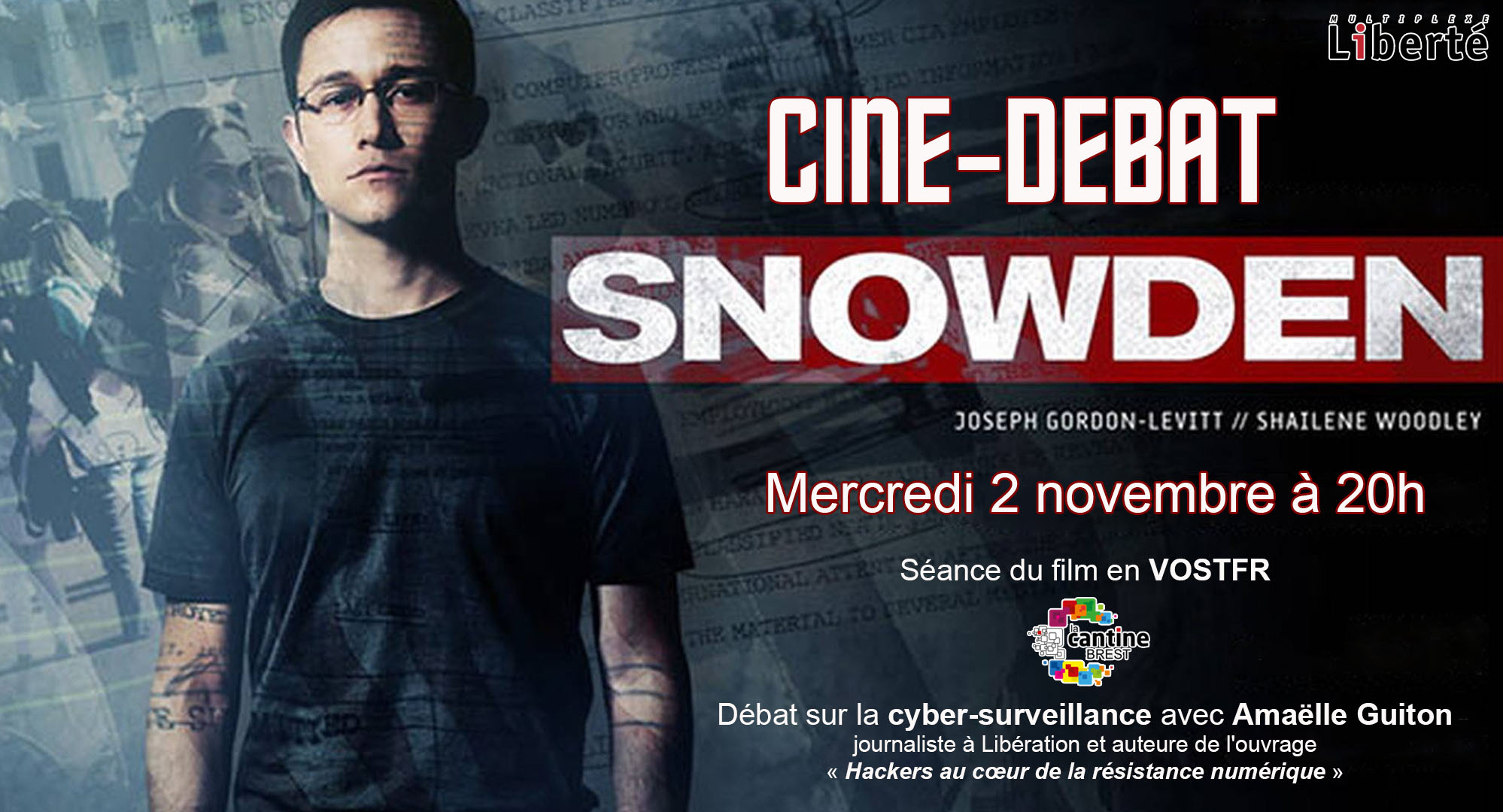 Ciné-débat autour de «SNOWDEN»