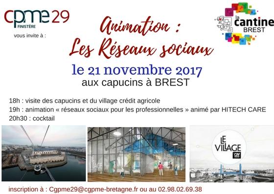Atelier: les réseaux sociaux pour les pro @ La Cantine numérique Brest | Brest | Bretagne | France