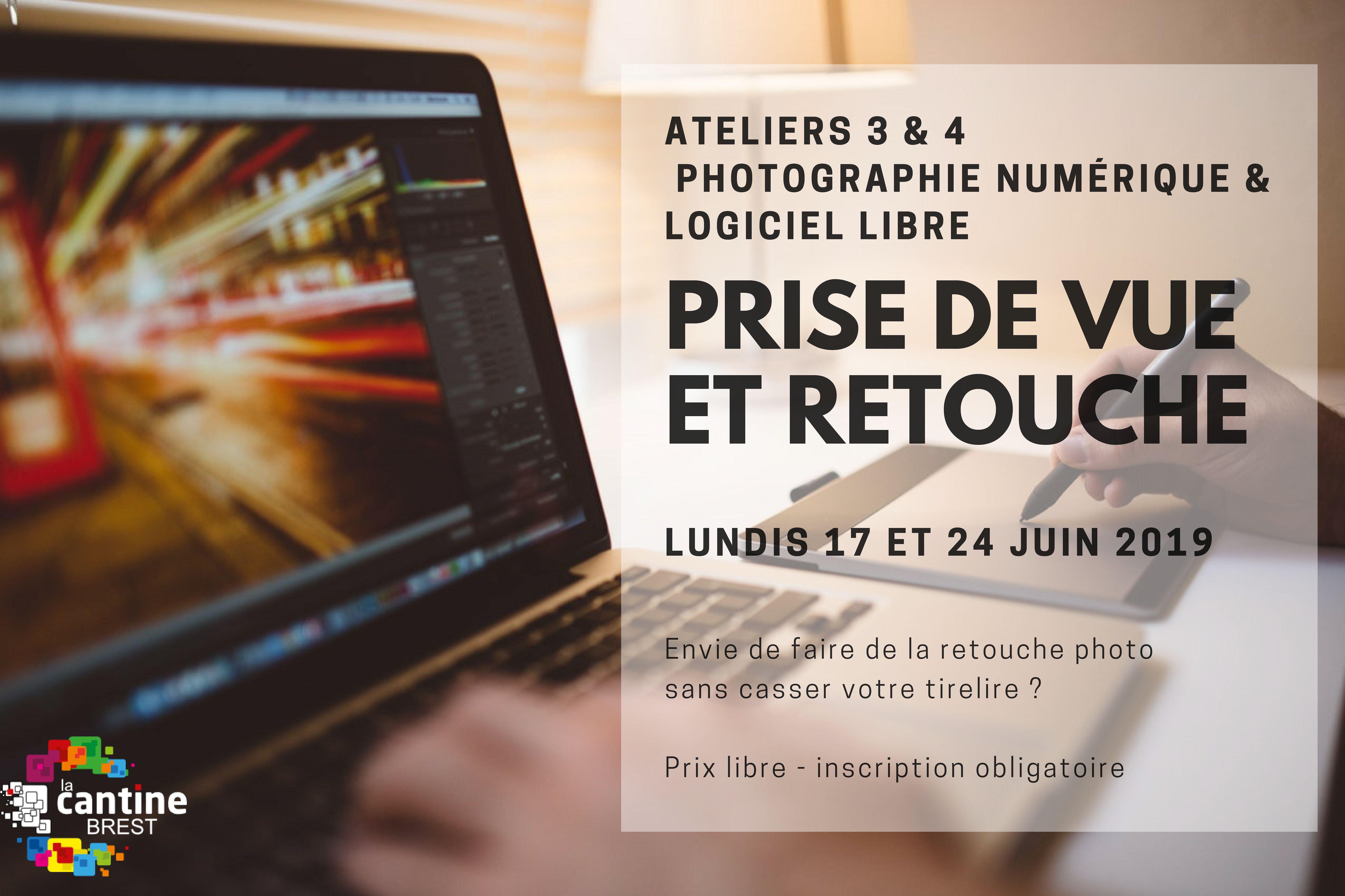 DÉCALÉ // Ateliers photo numérique & logiciel libre : prise de vue et retouche @ La Cantine numérique Brest