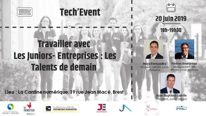 [Tech'Event] Travailler avec les Juniors-Entreprises : les talents de demain @ La Cantine numérique Brest