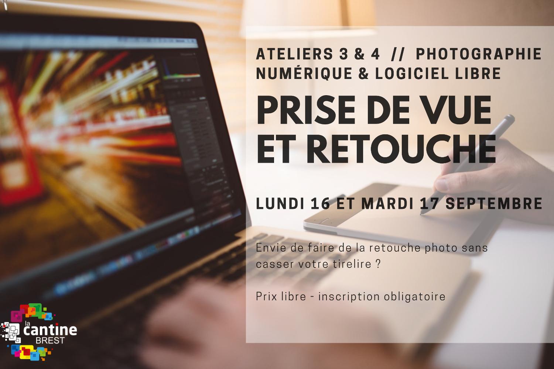 Ateliers photo numérique & logiciel libre : prise de vue et retouche @ La Cantine numérique Brest